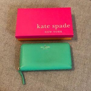 Authentic Kate Spade Sea Foam Green Wallet